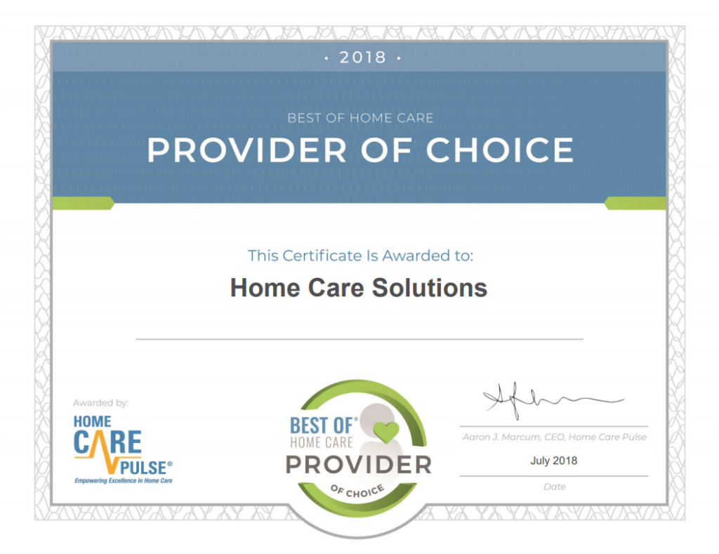 Home Care Solutions Receives Awards!